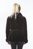Sheared Brown Mahogany Mink Jacket Trench