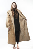 1980's Vintage Persian Lamb Leather Full Length Coat Reversible X Large Plus Size