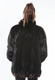 "1990's Vintage ""Braided Twist"" Ranch Mink Fur Jacket Demi BUFF"