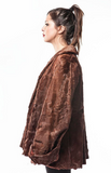 "1970's Retro ""Cowgirl"" Western Kid Skin Brown Fur Jacket"
