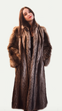 1980's Vintage Petite Small 3/4 length  Raccoon Fur Coat