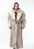 1970's AMAZINGLY KEWL Natural Coyote Full Length Vintage Fur Large Plus Size