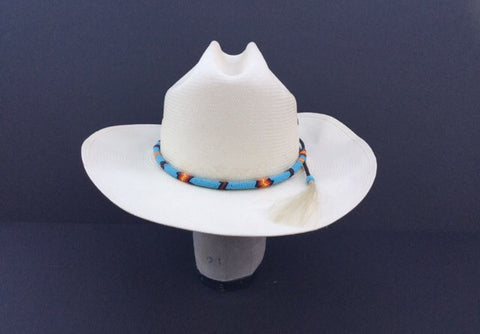 f76a78feb43af John B. Stetson Vintage Men s Cowboy Hat Turquoise Indian HatBand – BareFur