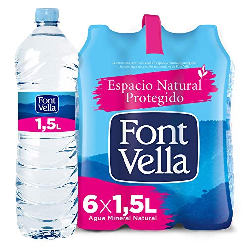 Still Natural Mineral Water Font Vella 6 x 1.5L