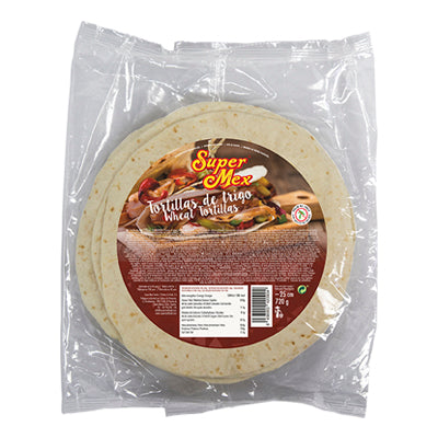 Tortilla Wraps 30cm Super Mex 18 Pack