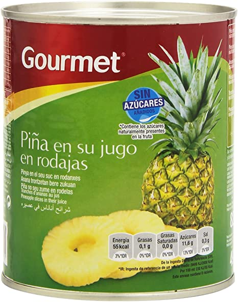 Tinned Pineapple Slices in Juice 820g