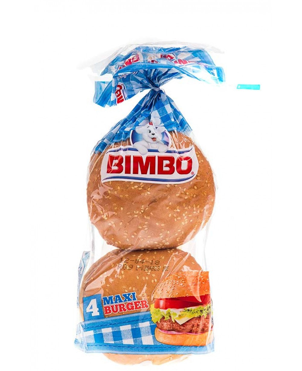 Bimbo Burger Buns with Sesame Seeds 4 Pack