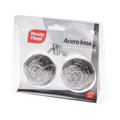 Mundo Floral Iron Scouring Sponge 2 Pack