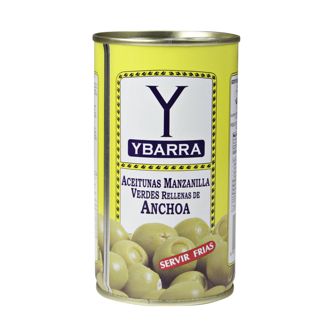 Green Olives with Anchovies Ybarra 350g