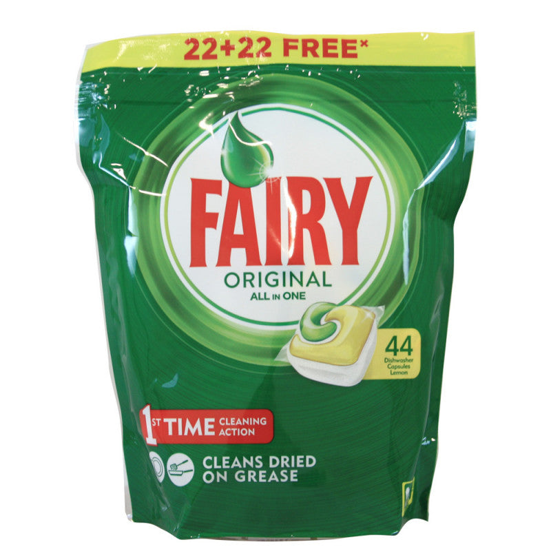 Fairy Lemon All in One Dishwasher Capsules 44 Pack