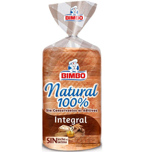 Sliced Wholemeal Bread 100% Natural Bimbo 450g