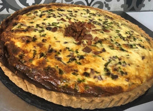 Whole Quiche Squash, Spinach & Feta (gluten free)