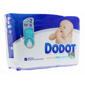 Dodot Pro Sensitive Nappies Size 2 4-8kgs 36 Pack