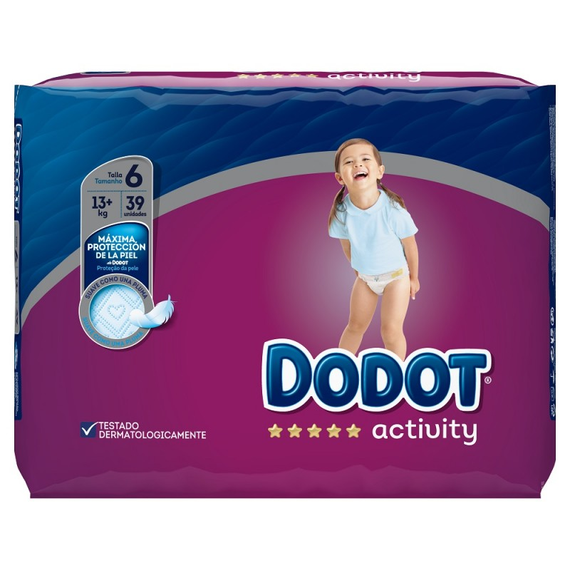 Dodot Activity Nappies Size 6 13+kgs 39 Pack
