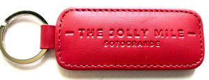 The Jolly Mile White Leather Keyring