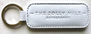 The Jolly Mile Blue Leather Keyring