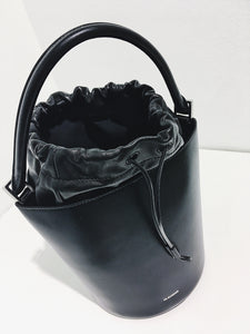 Drawstring Basket Bag SM black