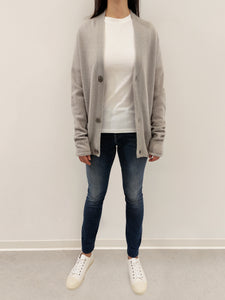 Strickjacke light grey
