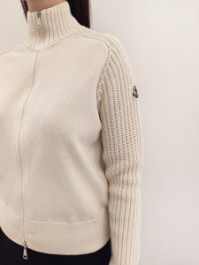Strickjacke white