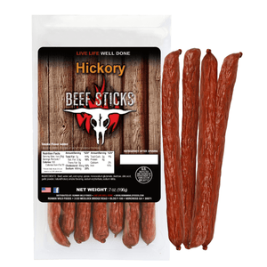 7oz Hickory Beef Sticks - Runnin Wild Foods
