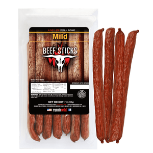 7oz Mild Beef Sticks - Runnin Wild Foods