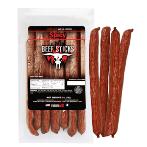 7oz Spicy Beef Sticks - Runnin Wild Foods