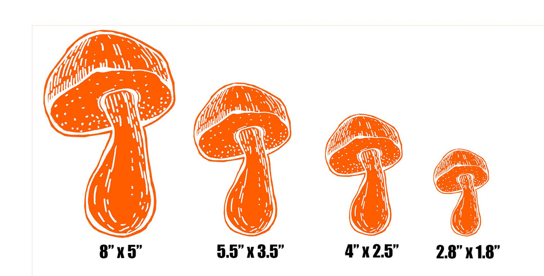 Shroom Logo Sticker Sizes