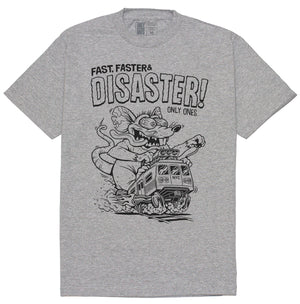 DISASTER TEE - HEATHER GREY