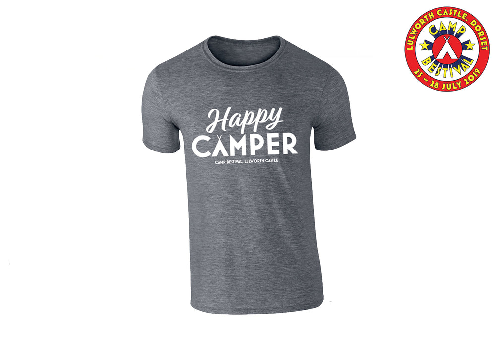 Happy Camper Grey T-Shirt