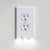 OUTLET WALL PLATE WITH LED NIGHT LIGHTS [UL FCC CSA CERTIFIED]