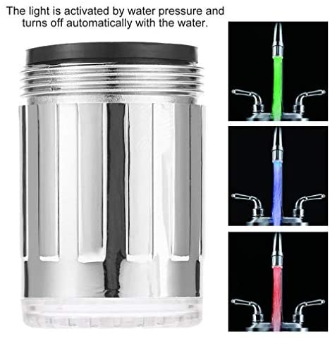 3 Color LED Light Changing Glow Temperature Sensor Water Faucet Tap