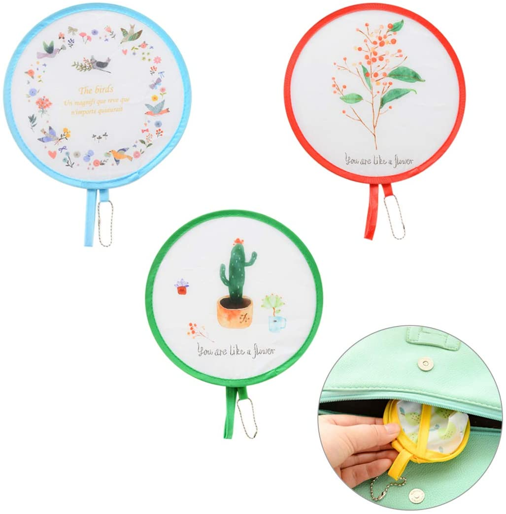 Foldable Round Handheld Fans