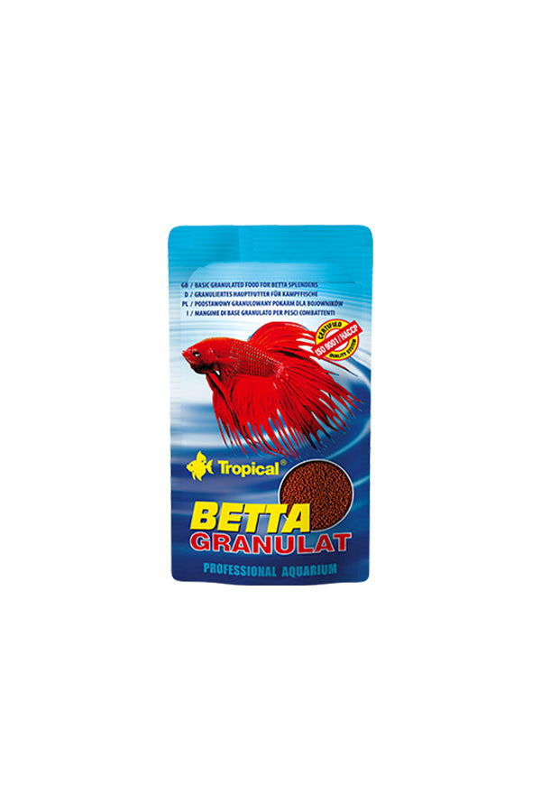 Tropical Betta- Slow Sinking Mini Granules Sachet 10ml/5g