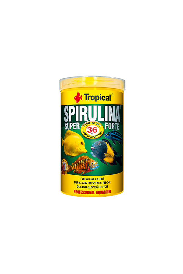 Tropical Super Spirulina Forte Flakes- 36% Spirulina 250ml/50g