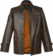 Laden Sie das Bild in den Galerie-Viewer, Musterbrand BROWN World of Tanks The Front Nappa Leather Jacket