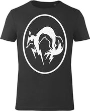 Laden Sie das Bild in den Galerie-Viewer, GOZOO Metal Gear Solid T-Shirt Herren MGS Fox Black/White