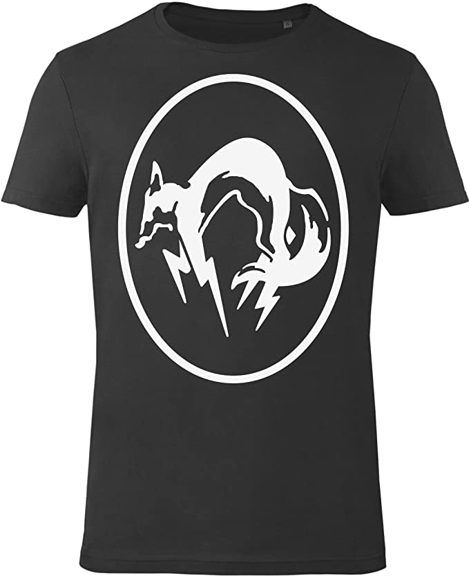 GOZOO Metal Gear Solid T-Shirt Herren MGS Fox Black/White