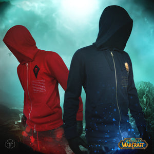 Musterbrand World of Warcraft Strick Jacke Cardigan Vallour of the Alliance (blau)