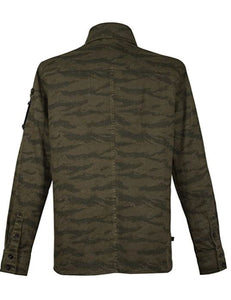Musterbrand Metal Gear Solid Herren Jacke tiger stripes, grün