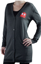 Laden Sie das Bild in den Galerie-Viewer, Musterbrand Damen Strickjacke Pac-Man Hommage, grau