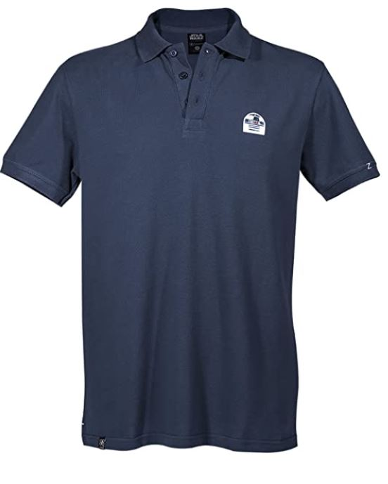 GOZOO Star Wars Polo Shirt Pique Herren R2-D2 Droid- Don't Get Technical with Me, blau