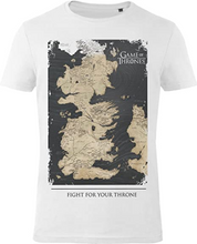 Load image into Gallery viewer, GOZOO Game of Thrones T-Shirt Herren Westeros Map - Fight for Your Throne