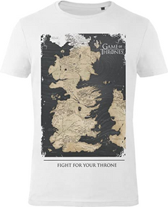 GOZOO Game of Thrones T-Shirt Herren Westeros Map - Fight for Your Throne