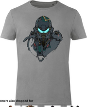 Load image into Gallery viewer, GOZOO Halo Agent Locke Men's T-Shirt 100% Baumwolle Grau Grey