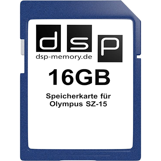 DSP Memory Parent for Olympus SZ-15, Black 16gb