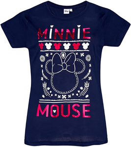 Disney Minnie Maus Damen T-Shirt marineblau