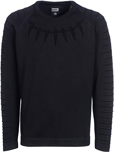 Musterbrand Marvel Crew Neck Men's Black Panther Schwarz