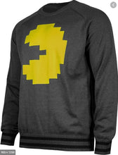 Load image into Gallery viewer, Musterbrand Pac Man Strick-Pullover Herren, anthrazit