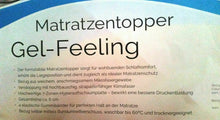 Load image into Gallery viewer, GEL-Feeling Topper FAN Matratzenauflage  90x200x6 cm B/L/H