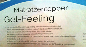 GEL-Feeling Topper FAN Matratzenauflage  90x200x6 cm B/L/H